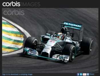 Corbis used watermarks but placed them in an easy-to-crop-out spot