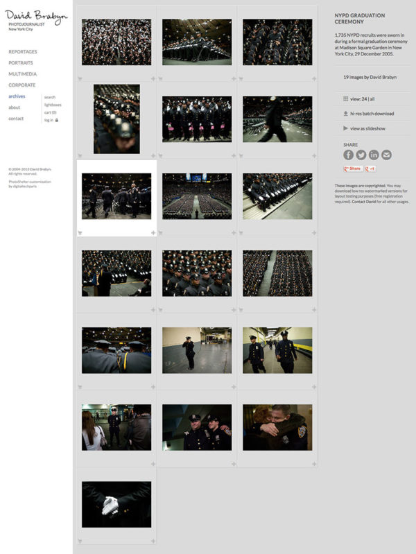 PhotoShelter gallery page customization